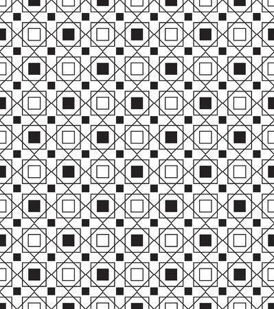 geometric pattern in a square: Simple geometric seamless texture Illustration