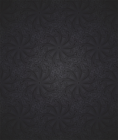 greyscale: Seamless floral wallpaper
