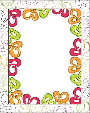 Abstract flower frame Illustration
