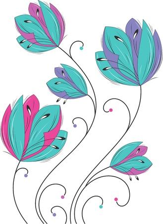 Fancy flowers Stock Vector - 15501065