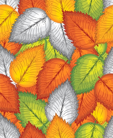 swirly design: Seamless leaves background