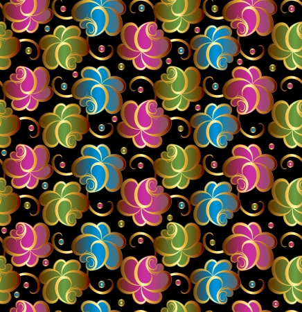 Seamless vector floral background Vektorgrafik