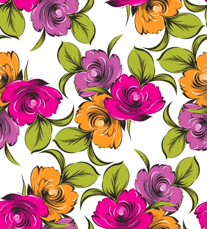 Seamless  flower wallpaper Stock Vector - 15421061
