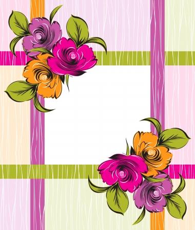 bunch flowers: fancy floral banner