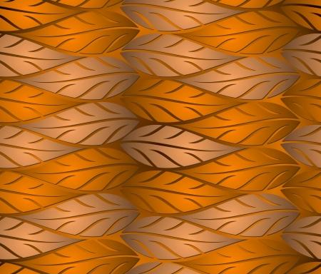 Fondo transparente de hojas de cobre