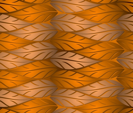 Seamless copper leaves background Vector