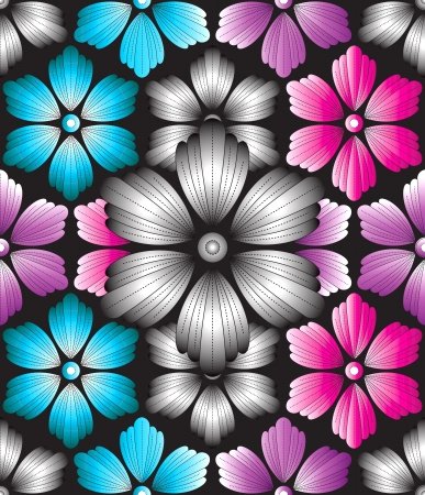 fancy floral wallpaper: Seamless decorative background Illustration