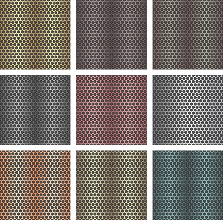 metalic: Set of seamless metal backgrounds