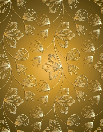 Traditional seamless wallpaper Stock Vector - 15540702
