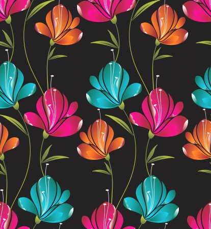 wrapper: Seamless wallpaper of creative flowers