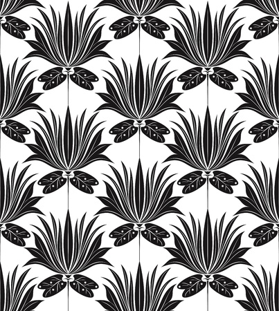 black damask: Seamless wallpaper in traditional look Illustration