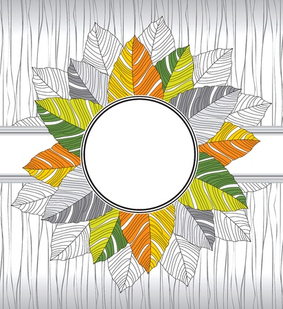 Banner of fancy leaves