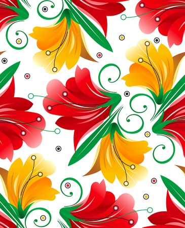Seamless wallpaper of flowers Vector