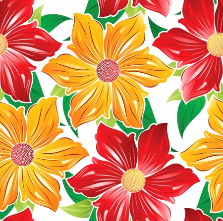 Wallpaper of seamless fancy flowers Vector