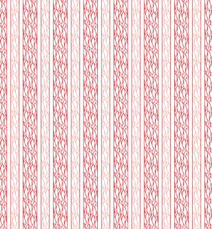 checked: Seamless red vertical line fabric cloth Illustration