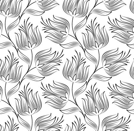 Seamless wallpaper of creative lotus flower Vector