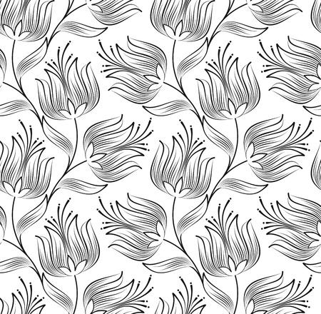 fancy floral wallpaper: Seamless wallpaper of creative lotus flower
