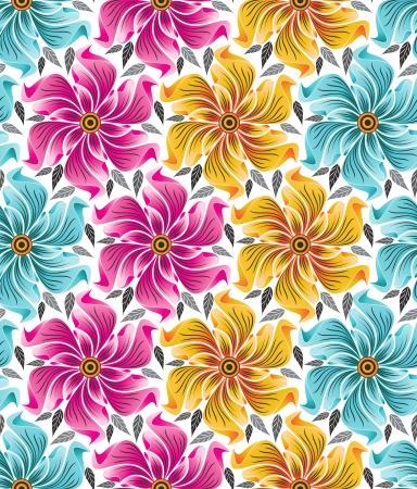 Background of seamless flowers for cloths Vector