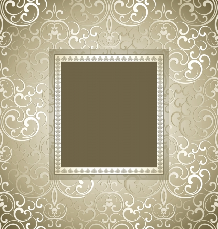 antique wallpaper: Traditional  invitation card
