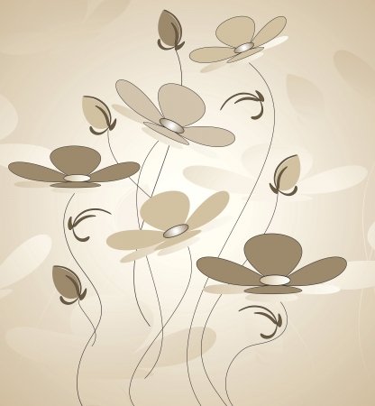 designer greeting flower Vector