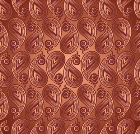 Seamless paisley dark background Vector