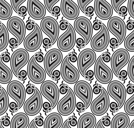 white curtain: Seamless wallpaper of vector paisley