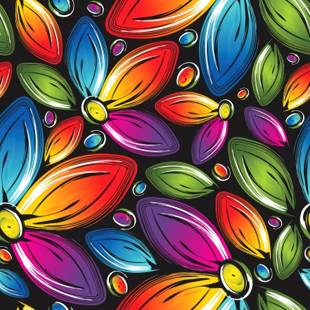 abstract seamless: Seamless wallpaper of beautiful flowers