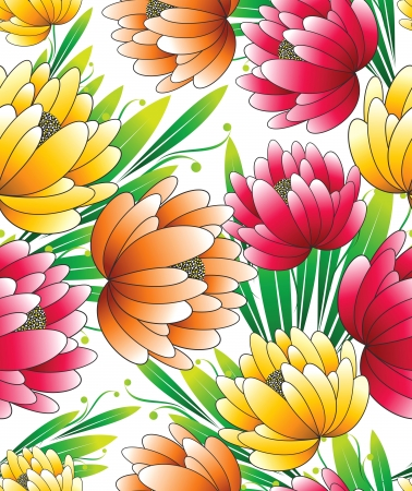 Beautiful seamless wallpaper of flowers Stock Vector - 15928064
