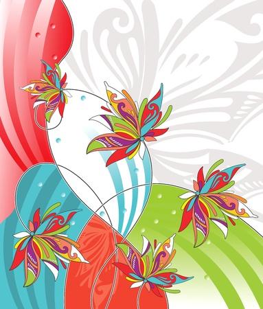 flower concept: flower design for greeting card