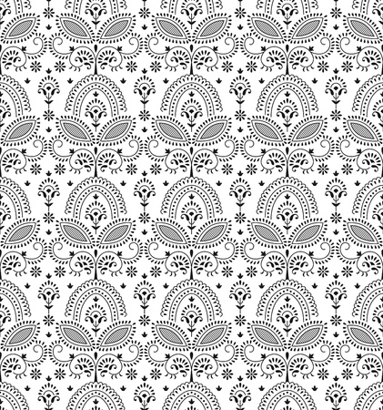 rich black wallpaper: Seamless decorative  wallpaper Illustration