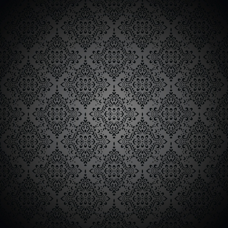 fancy border: Royal black wallpaper