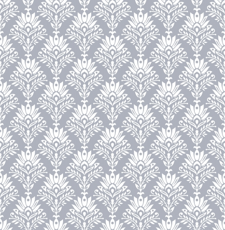 Seamless royal wallpaper in silver Vector