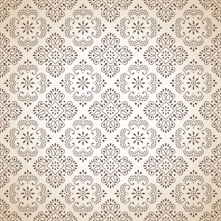 Seamless brown traditional wallpaper Vector