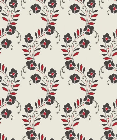 Seamless floral design for curtain Vector