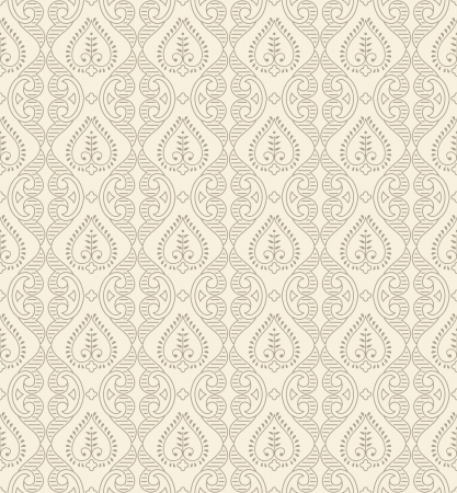 Floral seamless damask wallpaper Vector