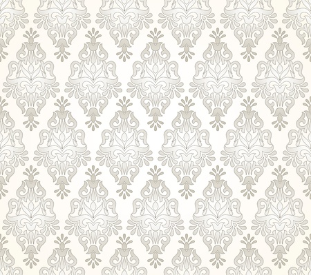 traditional silver wallpaper: Seamless damask golden pattern