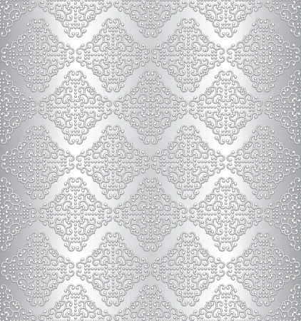traditional silver wallpaper: Silver seamless metal background Illustration