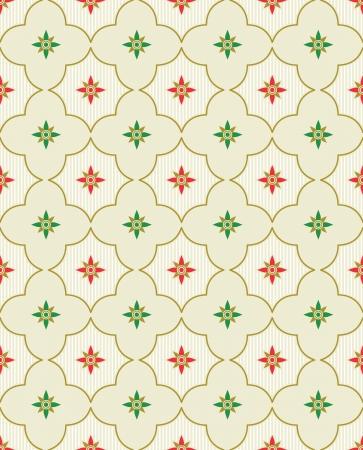 seamless damask: Vector floral pattern Illustration