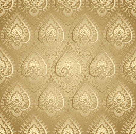 Vector golden damask wallpaper Vector