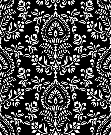 rich black wallpaper: Royal seamless wallpaper Illustration