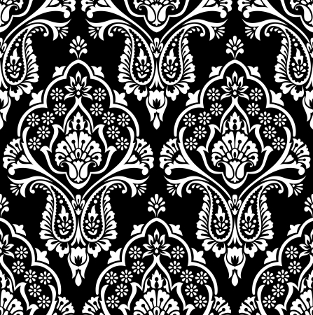 damask pattern: Vector seamless damask wallpaper Illustration