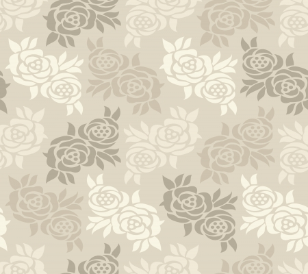 Abstract seamless rose wallpaper Vector