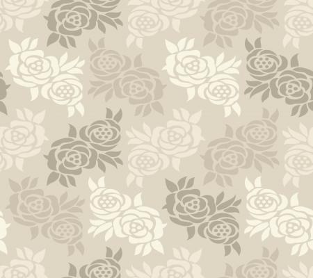 Abstract seamless rose wallpaper Stock Vector - 16250375