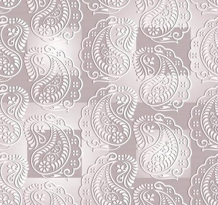 Seamless paisley vector background Vector