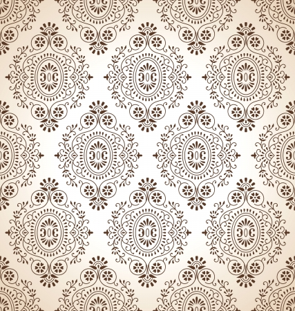 Traditional brown seamless wallpaper Vector