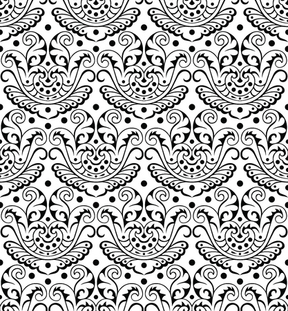 Royal seamless damask wallpaper Vector