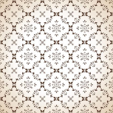 Seamless paisley wallpaper in brown Stock Vector - 16334887