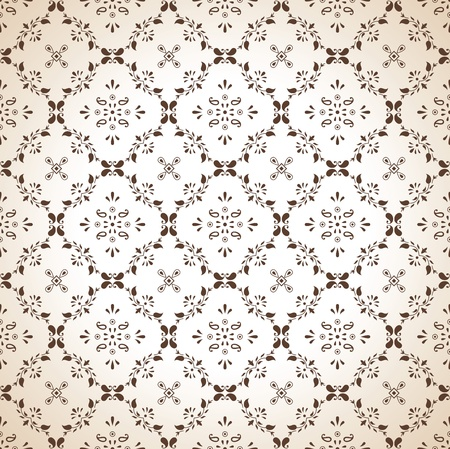 Seamless paisley wallpaper in brown Stock Vector - 16334887