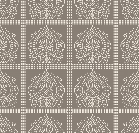 Seamless paisley wallpaper and pattern Vector