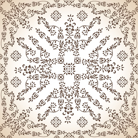 mustered: Seamless antique wallpaper in brown